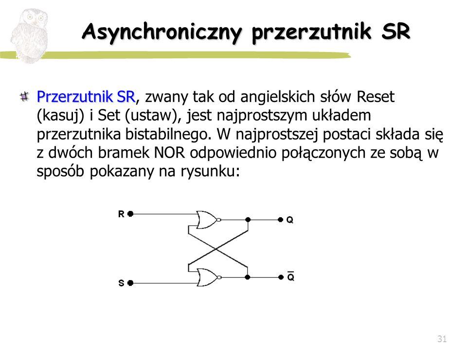 Asynchroniczny przerzutnik SR