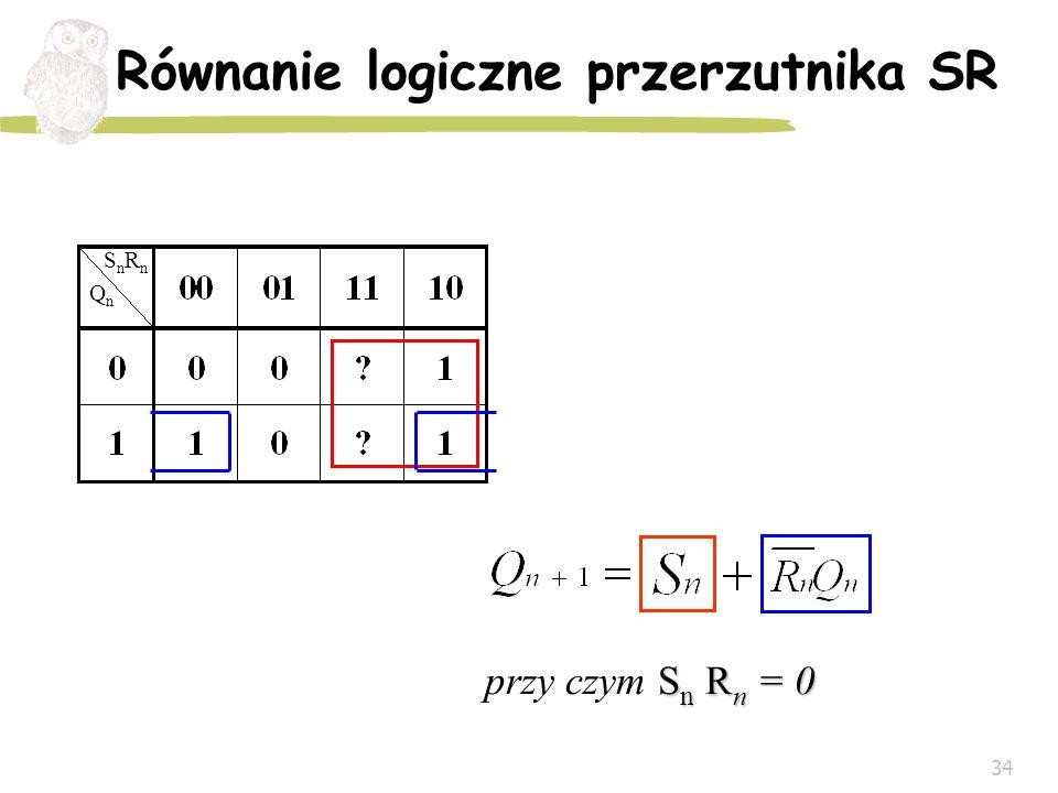 Równanie logiczne przerzutnika SR