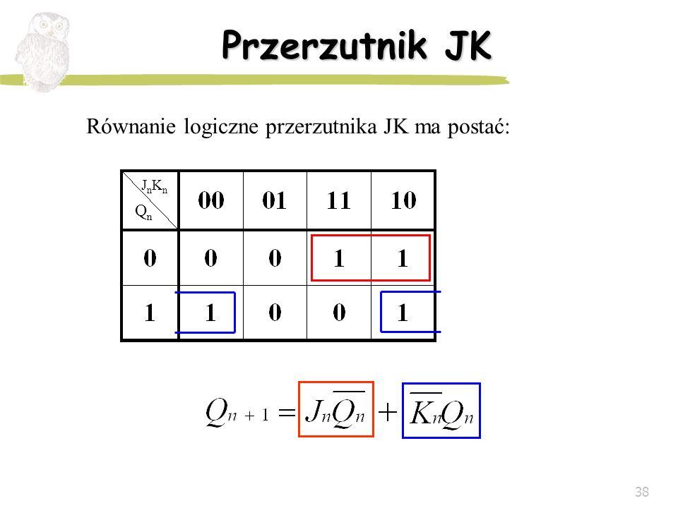 Równanie logiczne przerzutnika JK ma postać: