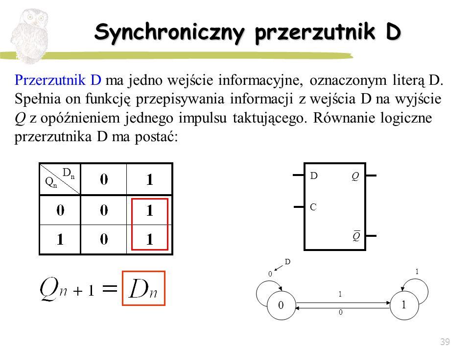 Synchroniczny przerzutnik D