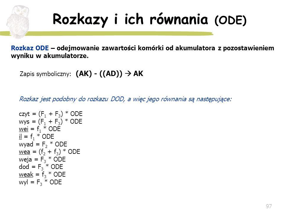 Rozkazy i ich równania (ODE)