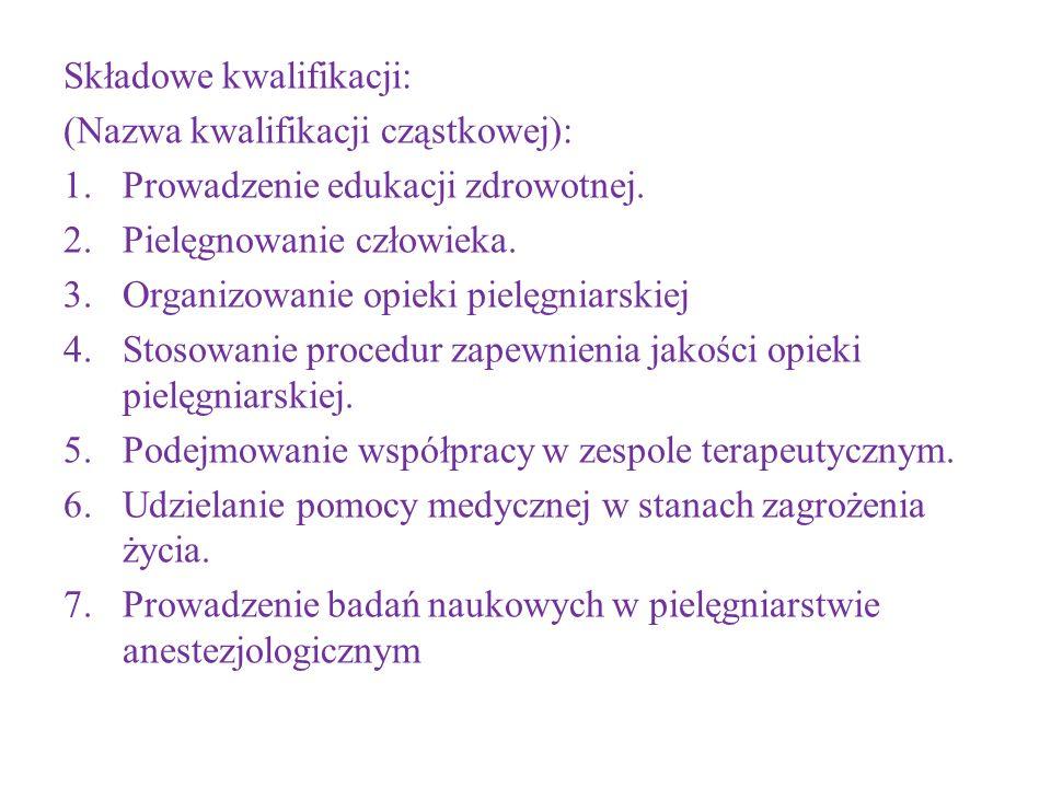 Składowe kwalifikacji: