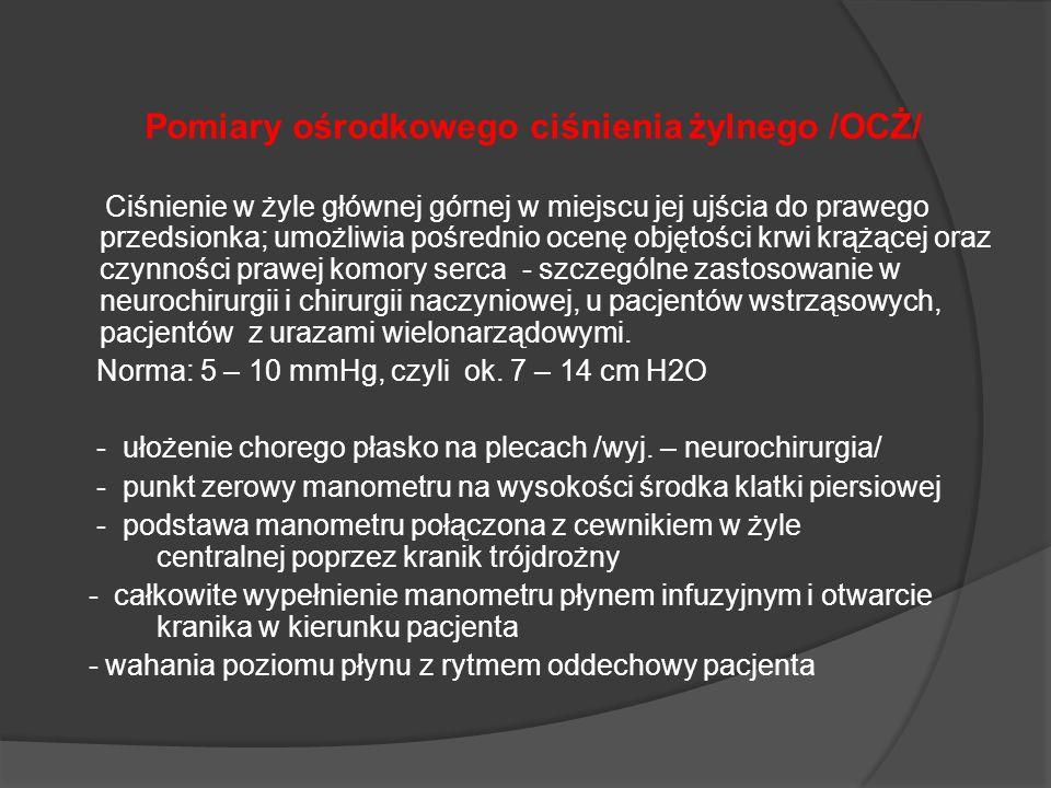 Pomiary ośrodkowego ciśnienia żylnego /OCŻ/