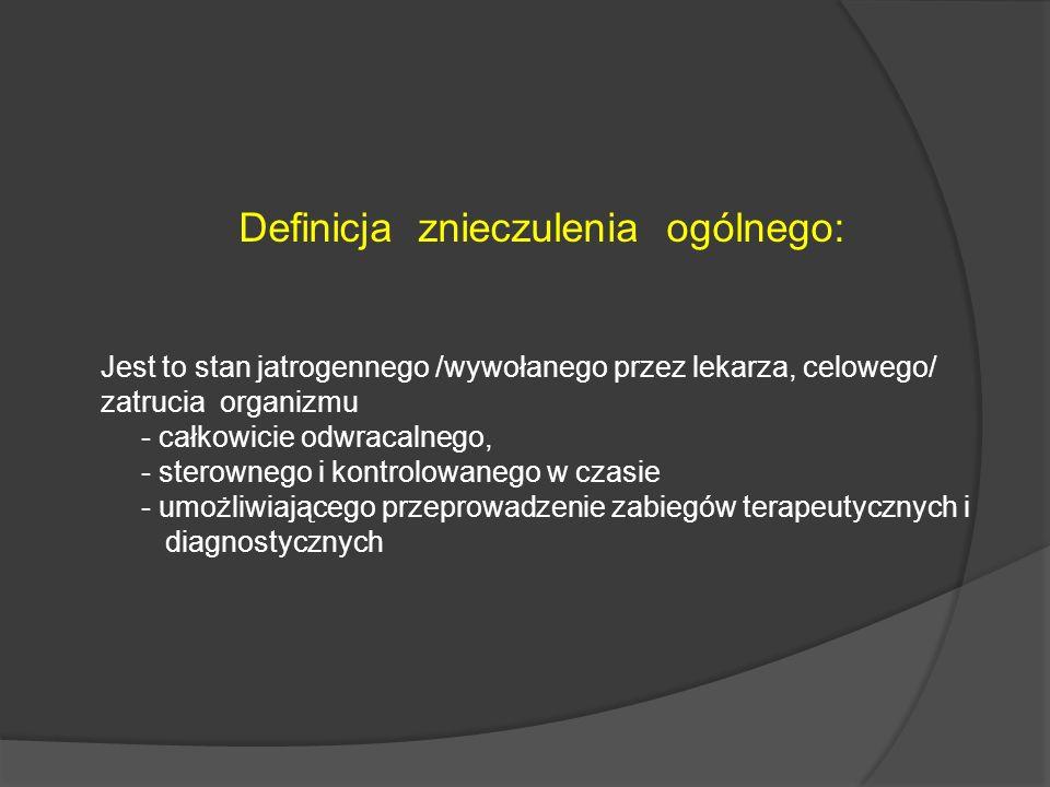 Definicja znieczulenia ogólnego: