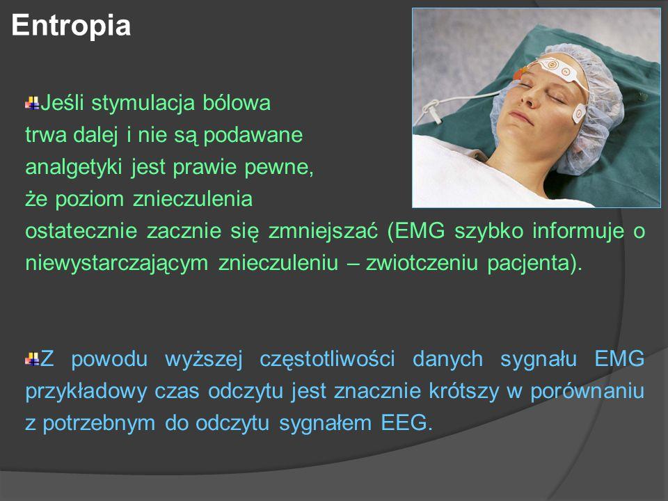 Entropia Jeśli stymulacja bólowa trwa dalej i nie są podawane
