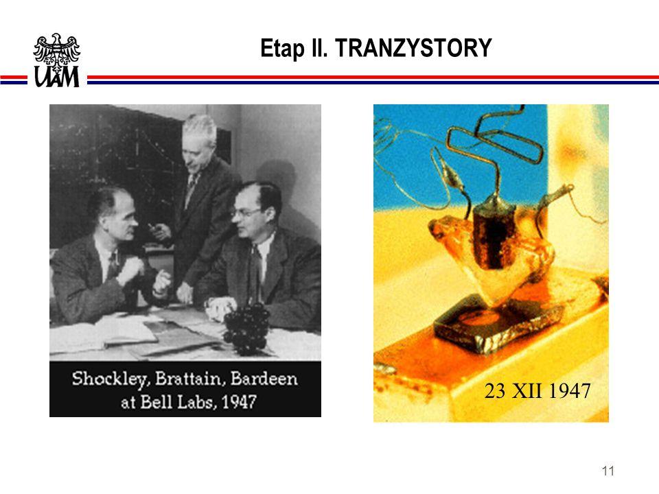Etap II. TRANZYSTORY 23 XII 1947