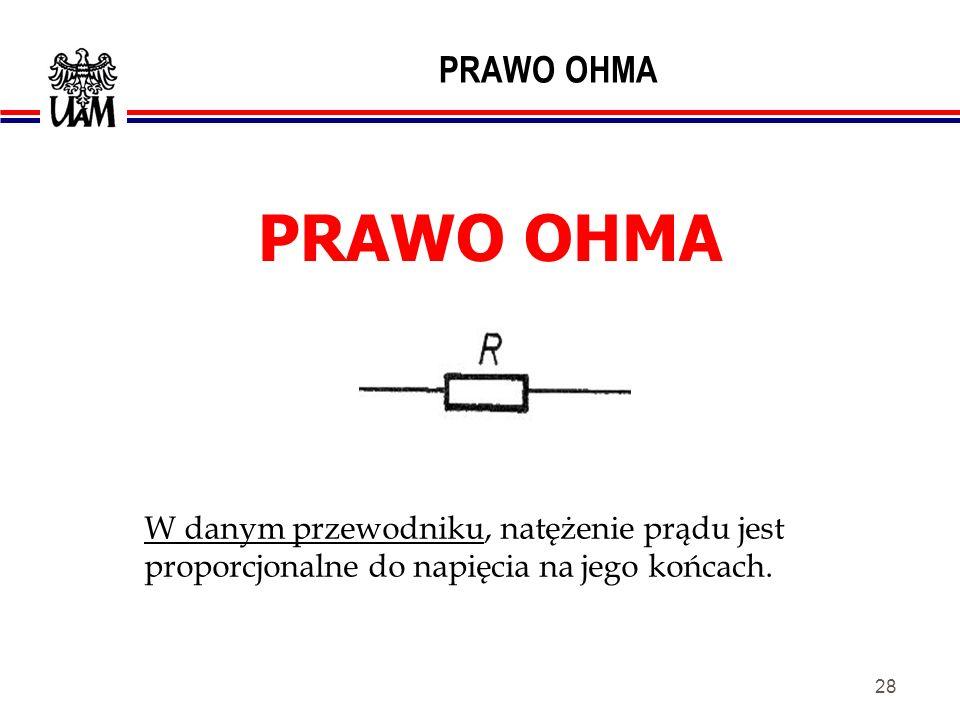 PRAWO OHMA PRAWO OHMA.