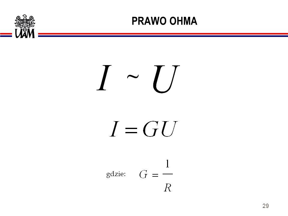 PRAWO OHMA ~ gdzie:
