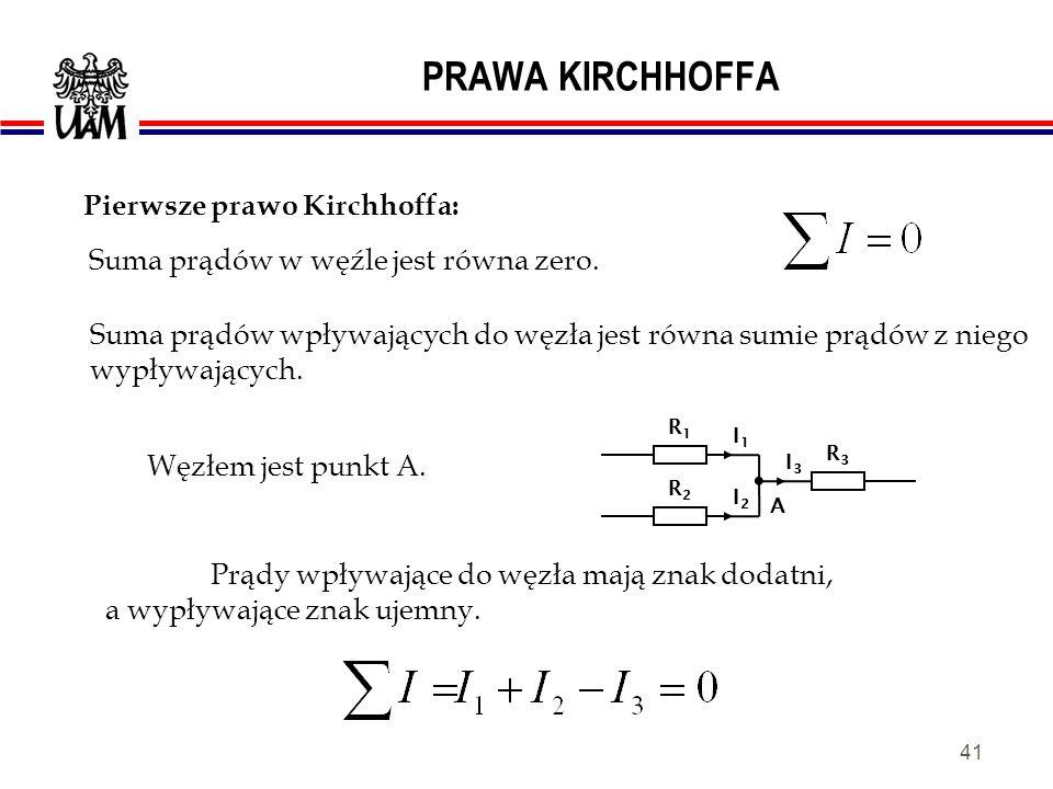 Pierwsze prawo Kirchhoffa: