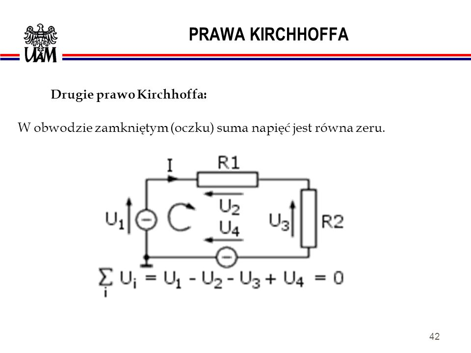 Drugie prawo Kirchhoffa: