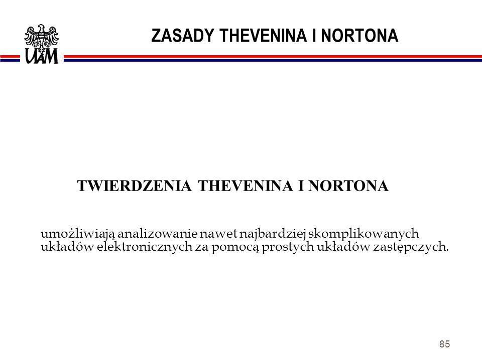 ZASADY THEVENINA I NORTONA