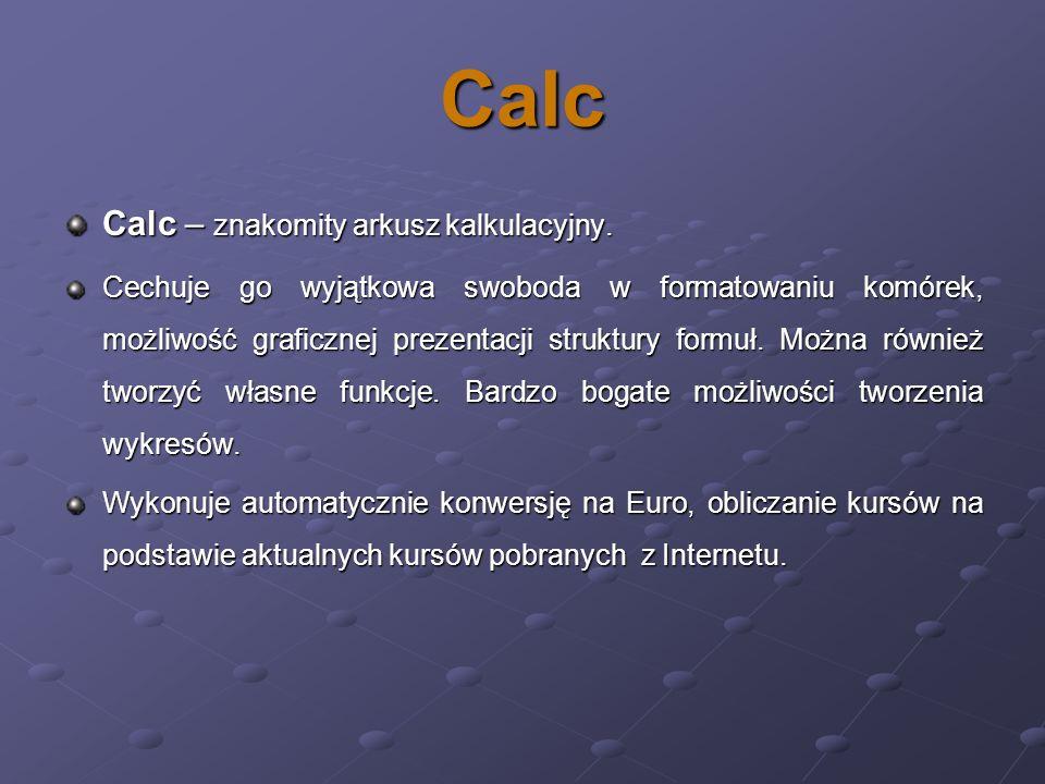 Calc Calc – znakomity arkusz kalkulacyjny.