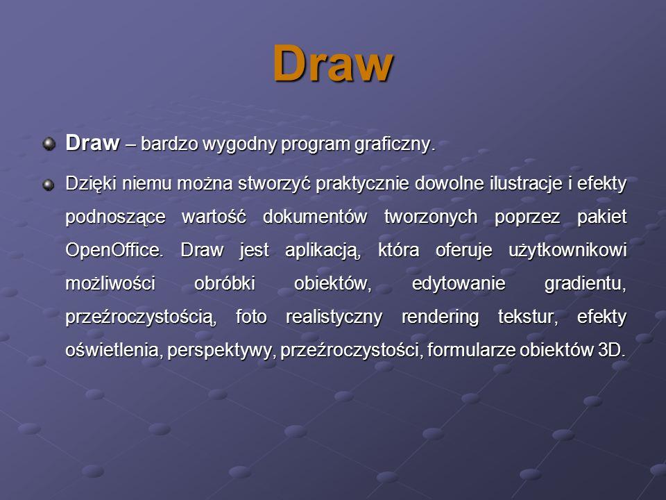 Draw Draw – bardzo wygodny program graficzny.