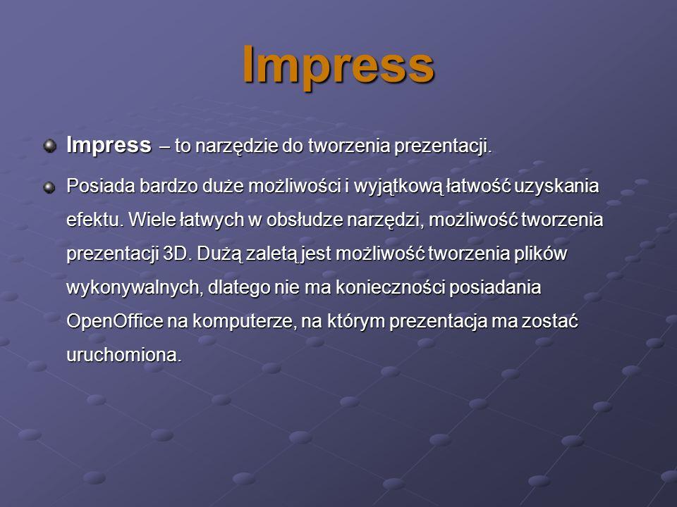 Impress Impress – to narzędzie do tworzenia prezentacji.