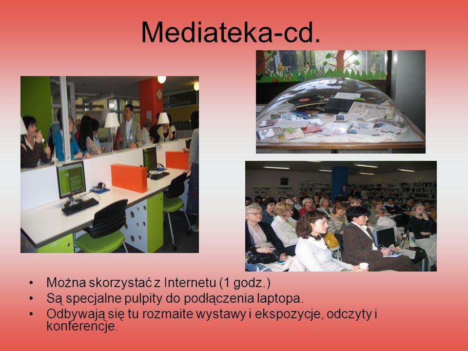 Mediateka-cd. Można skorzystać z Internetu (1 godz.)
