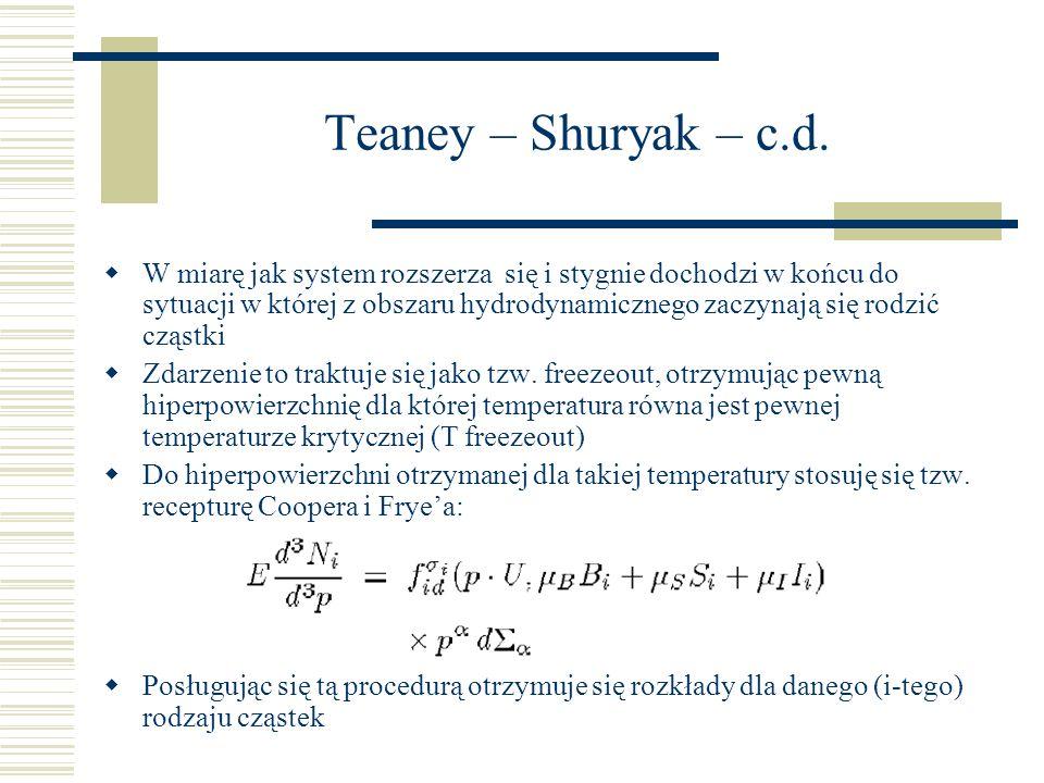 Teaney – Shuryak – c.d.