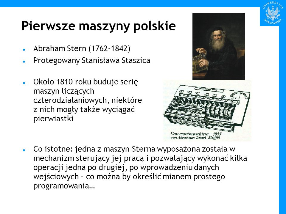 Pierwsze maszyny polskie