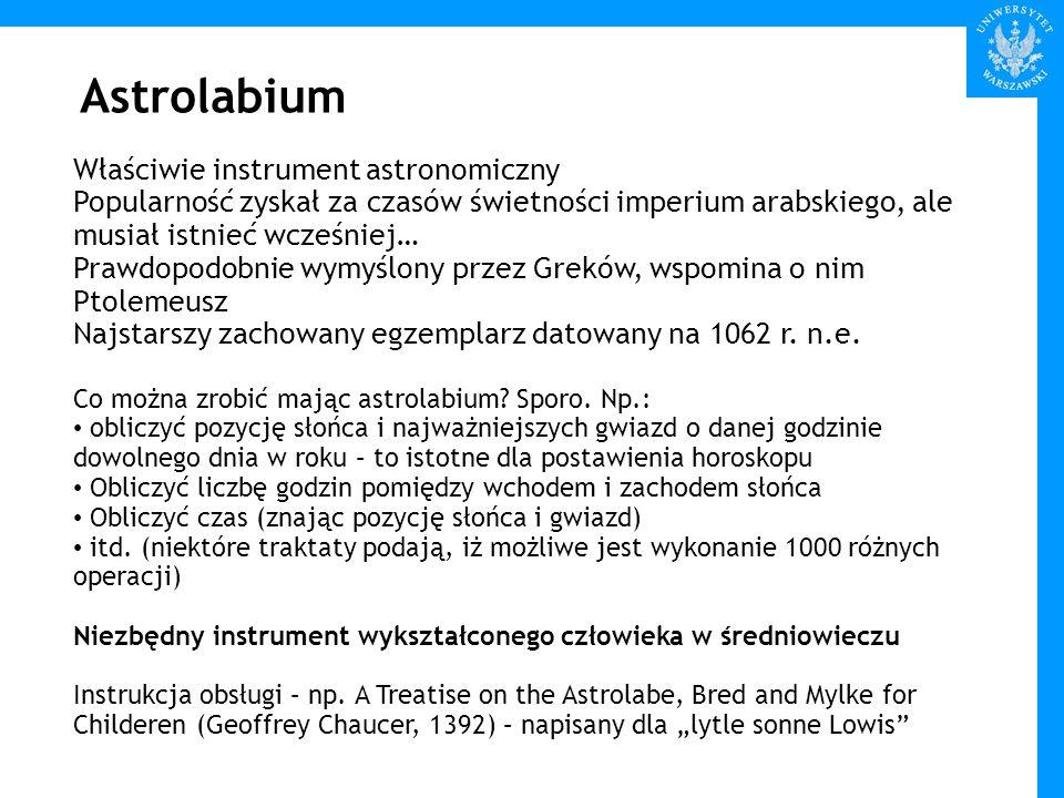 Astrolabium Właściwie instrument astronomiczny