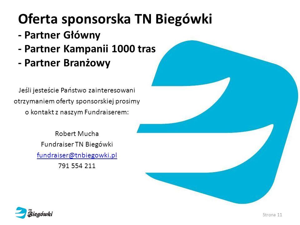 Oferta sponsorska TN Biegówki - Partner Główny - Partner Kampanii 1000 tras - Partner Branżowy