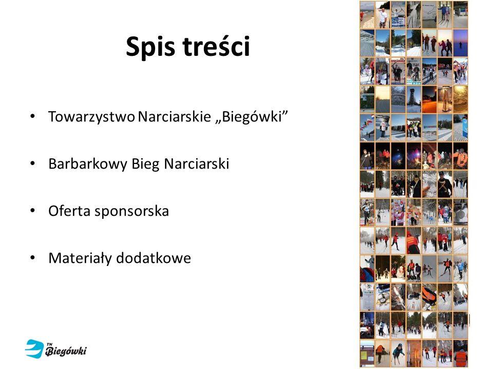 """Spis treści Towarzystwo Narciarskie """"Biegówki"""