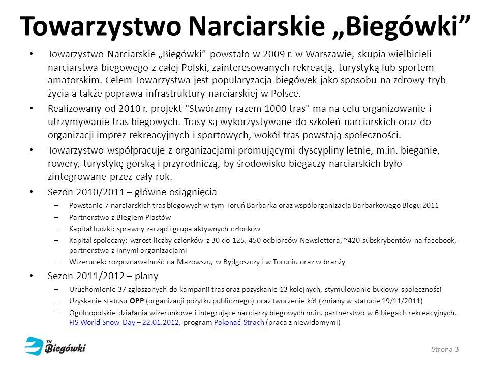 """Towarzystwo Narciarskie """"Biegówki"""