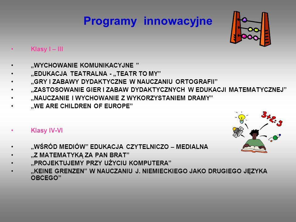 """Programy innowacyjne Klasy I – III """"WYCHOWANIE KOMUNIKACYJNE"""
