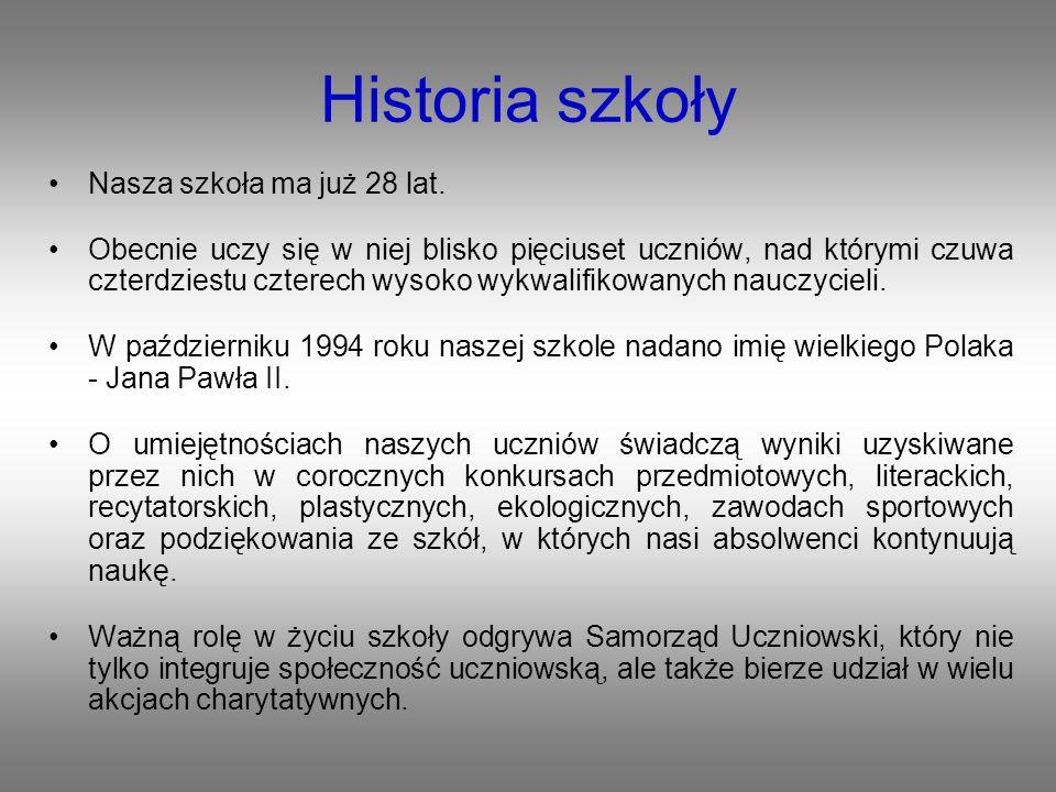 Historia szkoły Nasza szkoła ma już 28 lat.