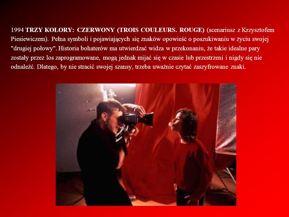 1994 TRZY KOLORY: CZERWONY (TROIS COULEURS