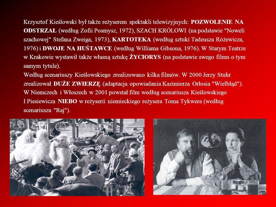Krzysztof Kieślowski był także reżyserem spektakli telewizyjnych: POZWOLENIE NA
