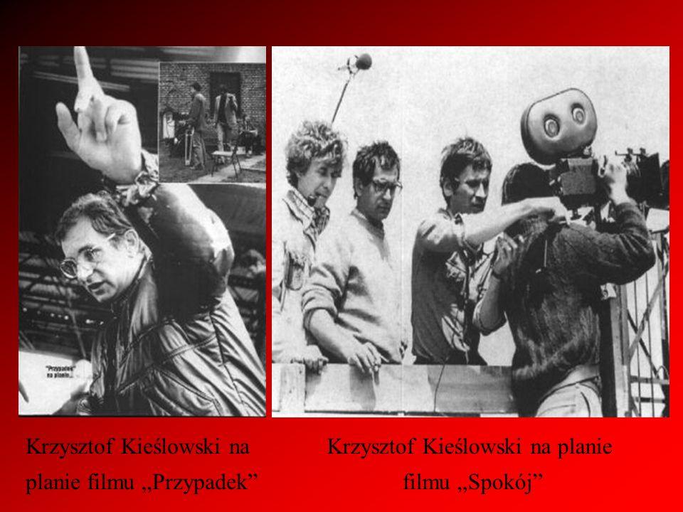 Krzysztof Kieślowski na planie