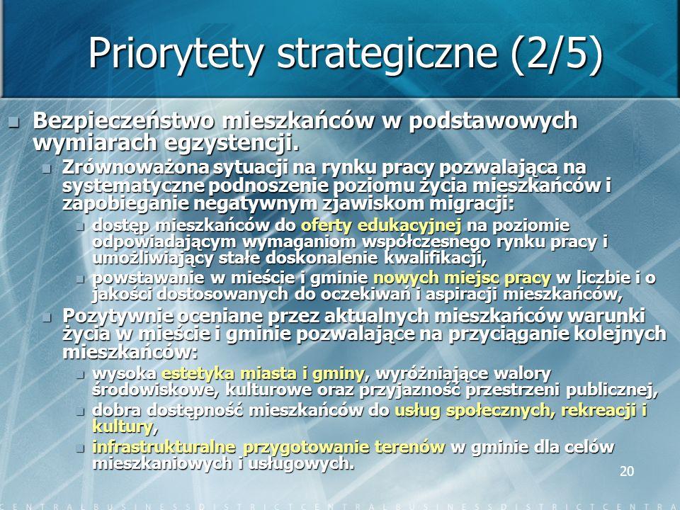 Priorytety strategiczne (2/5)
