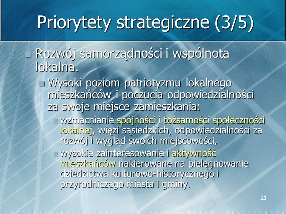 Priorytety strategiczne (3/5)