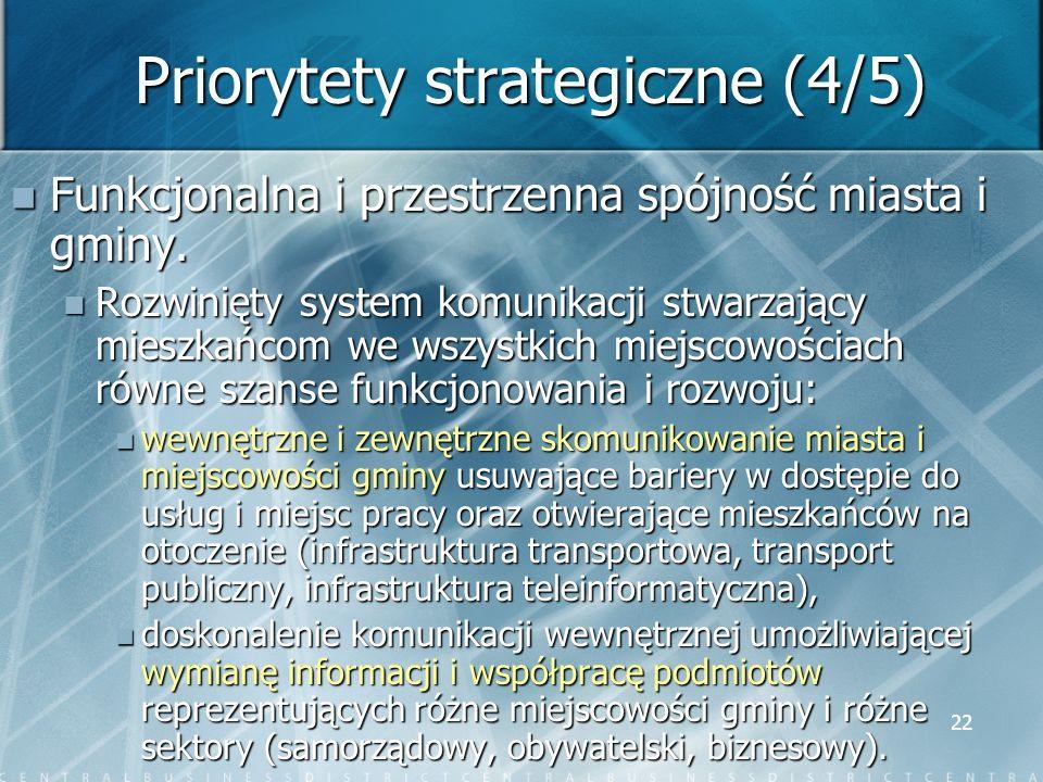 Priorytety strategiczne (4/5)