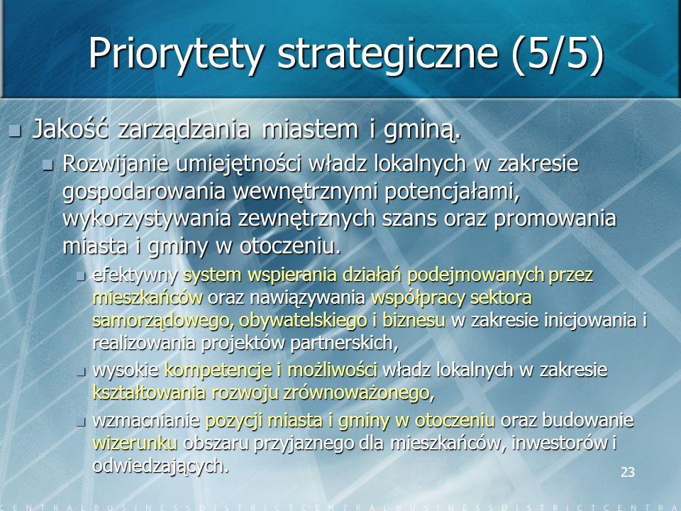 Priorytety strategiczne (5/5)