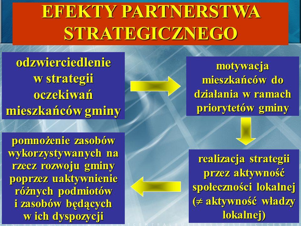 EFEKTY PARTNERSTWA STRATEGICZNEGO