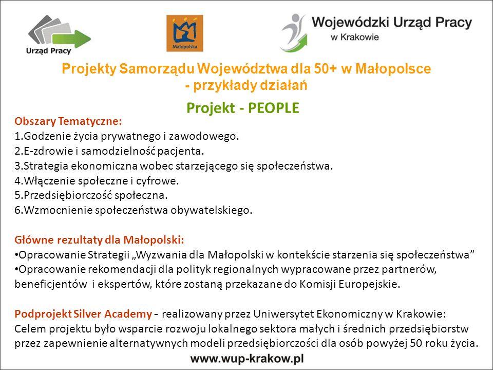 Projekty Samorządu Województwa dla 50+ w Małopolsce