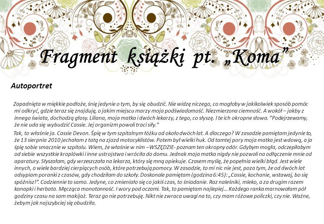 """Fragment książki pt. """"Koma"""