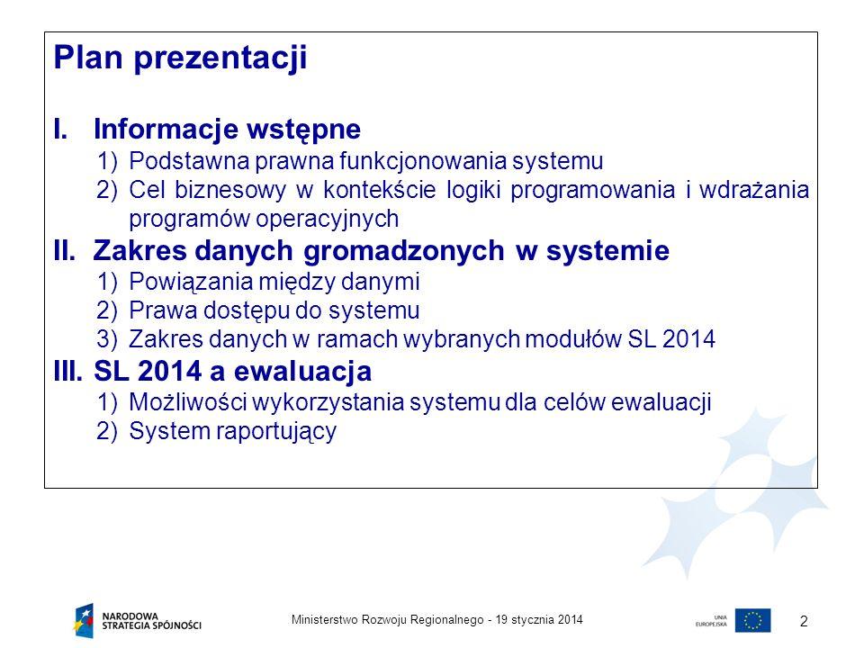 Plan prezentacji Informacje wstępne
