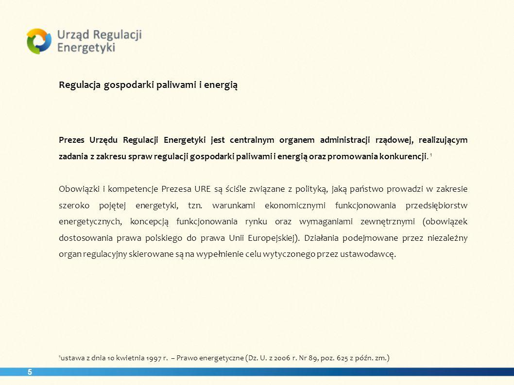 Regulacja gospodarki paliwami i energią
