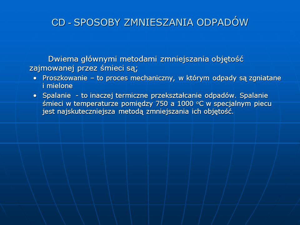CD - SPOSOBY ZMNIESZANIA ODPADÓW