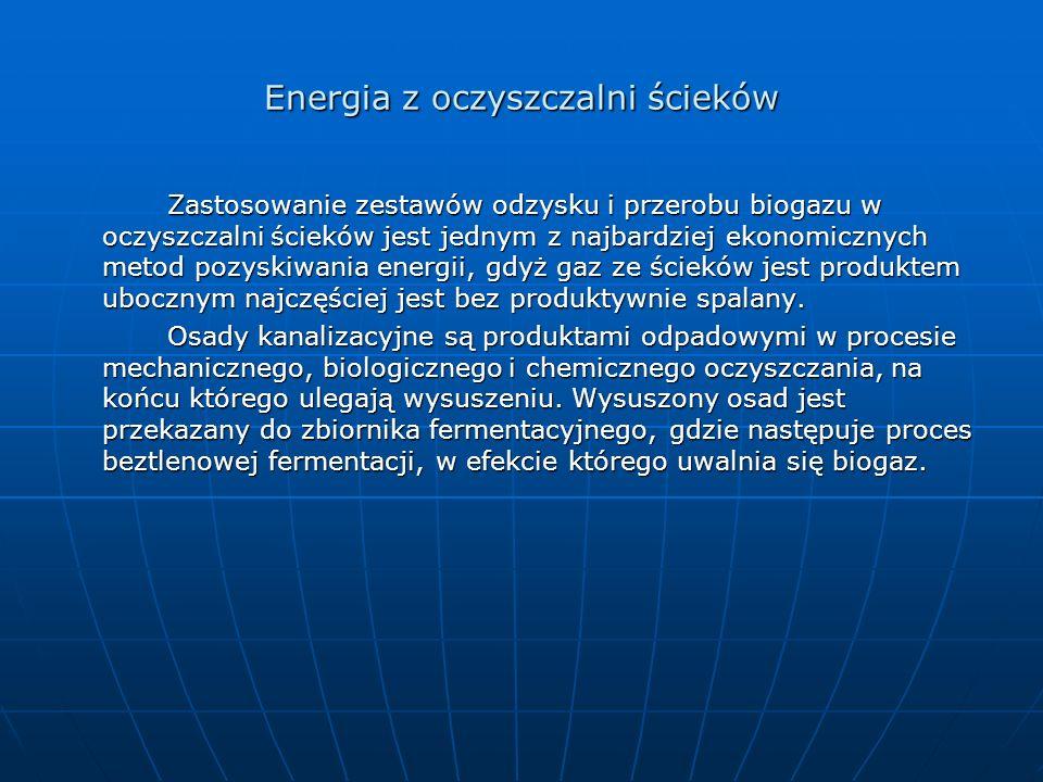 Energia z oczyszczalni ścieków