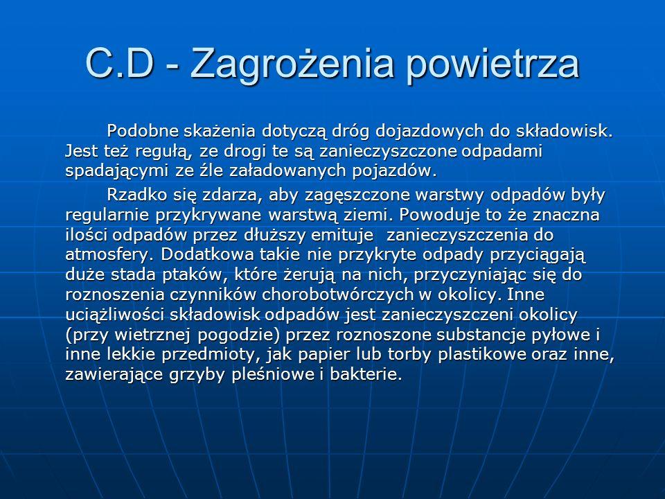 C.D - Zagrożenia powietrza