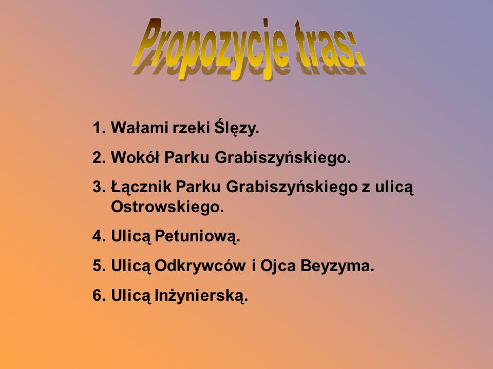 Propozycje tras: Wałami rzeki Ślęzy. Wokół Parku Grabiszyńskiego.