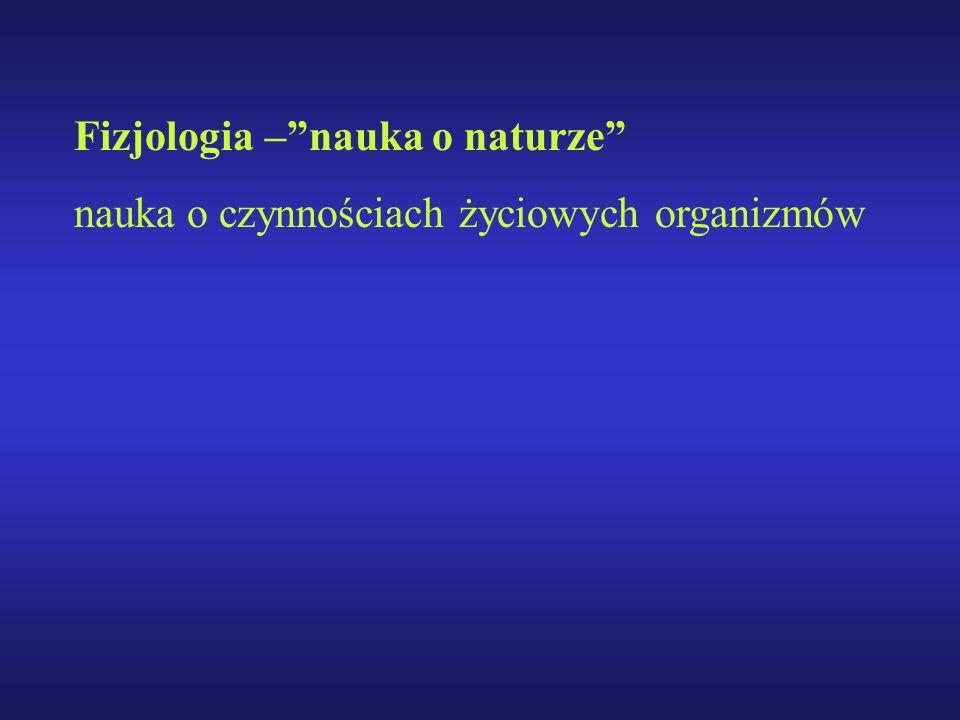 Fizjologia – nauka o naturze