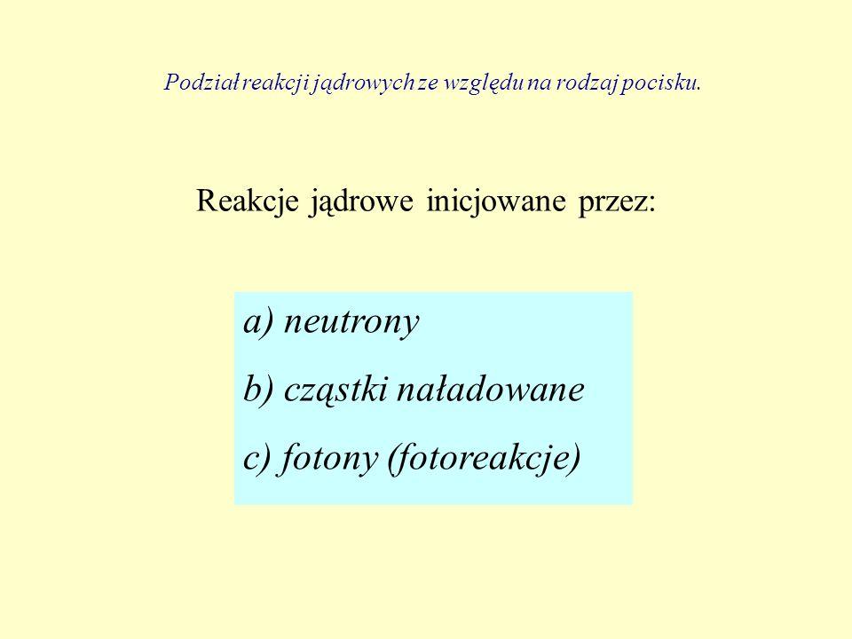 c) fotony (fotoreakcje)