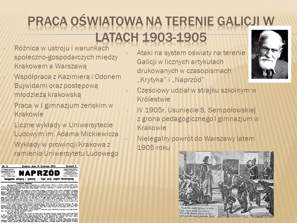 Praca oświatowa na terenie Galicji w latach 1903-1905
