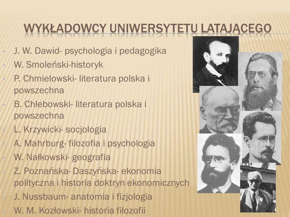 Wykładowcy uniwersytetu latającego
