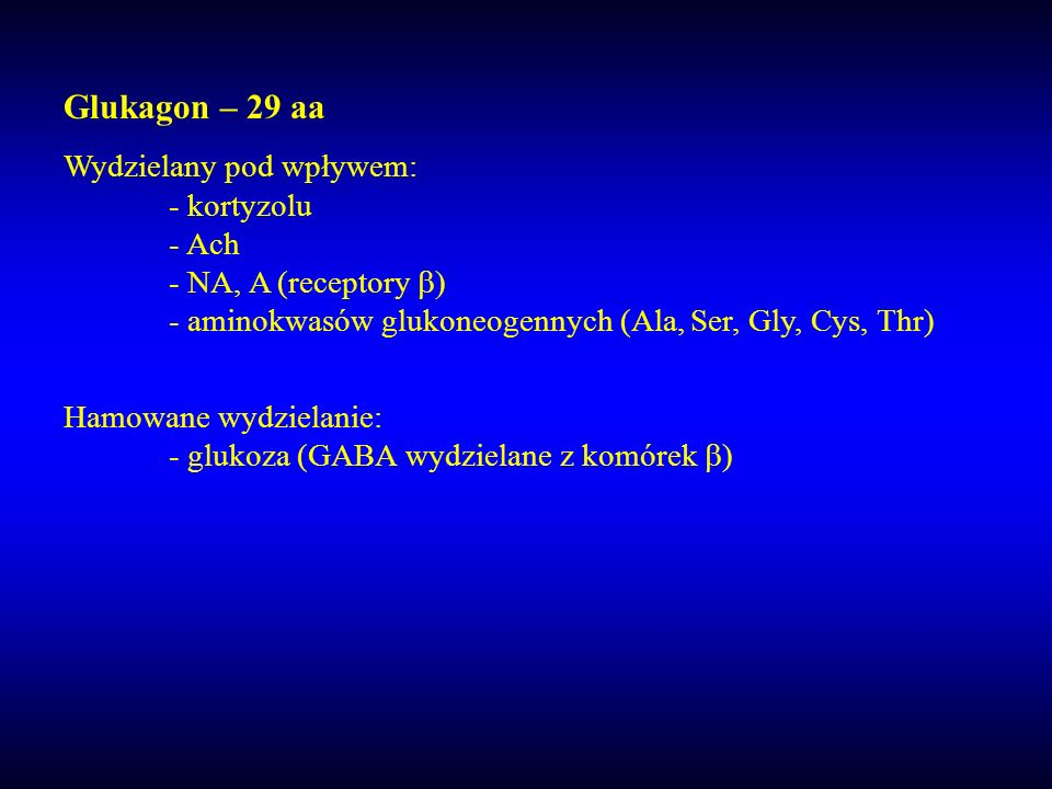 Glukagon – 29 aa