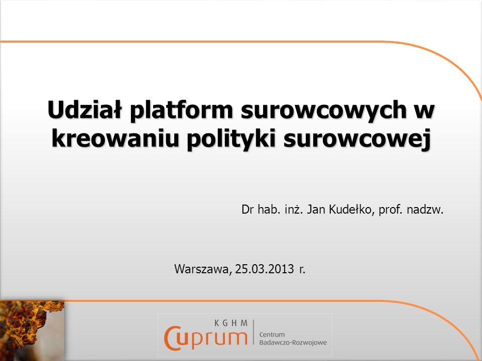 Udział platform surowcowych w kreowaniu polityki surowcowej