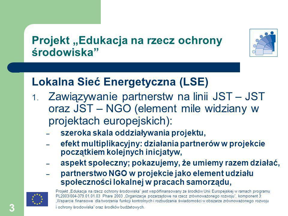 """Projekt """"Edukacja na rzecz ochrony środowiska"""